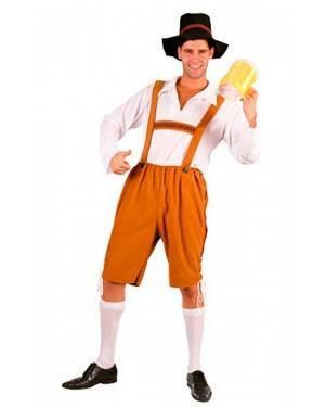 Costume Tirolese, Uomo Birra Adulto Tg. Unica