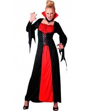 Costumi Vampira Rosso e Nero Halloween per Carnevale