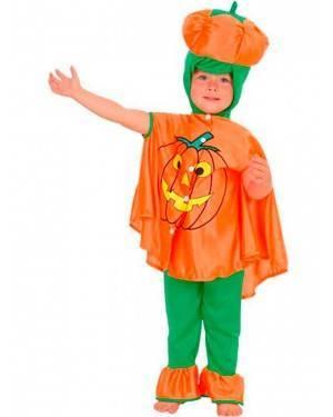 Costumi Zucca Bambini Taglia 2-4 anni per Carnevale