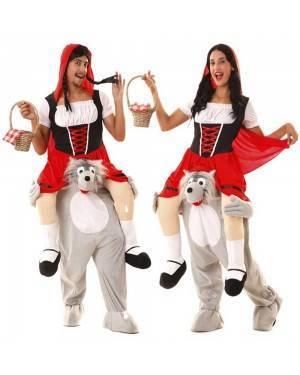 Costume Cappuccetto Rosso in spalla del lupo Carry Me per Carnevale | La Casa di Carnevale