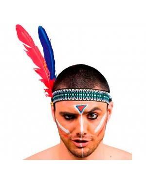 Fascia Indiano 2 Piume (3 Unitá) per Carnevale