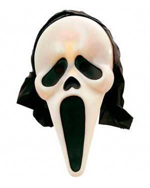 Maschera Fantasma Scream fluorescente Cappuccio per Carnevale