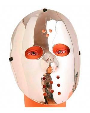 Maschera Hokey Silver in Plastica 23cm