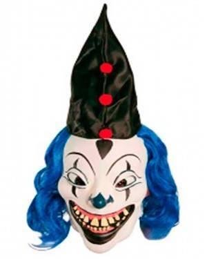 Maschera Pagliaccio Azzurro in Lattice per Carnevale