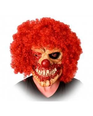 Maschera Pagliaccio Zombie in Lattice per Carnevale