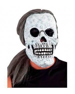 Maschera Teschio da Capelli Lunghi per Carnevale