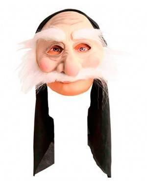 Maschera Vecchio con Cappuccio per Carnevale