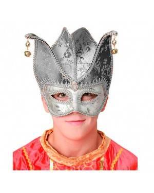 Maschera Veneziana Argento per Carnevale
