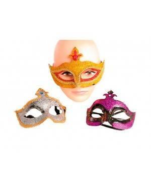 Maschera Veneziana Plastica (3 Unitá) per Carnevale