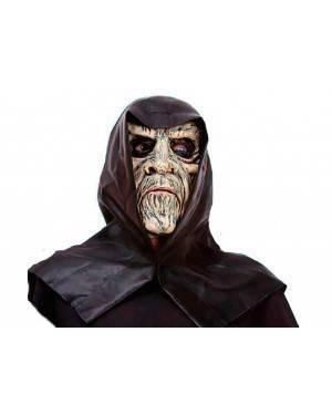 Maschera Zombi con Cappuccio in Lattice per Carnevale