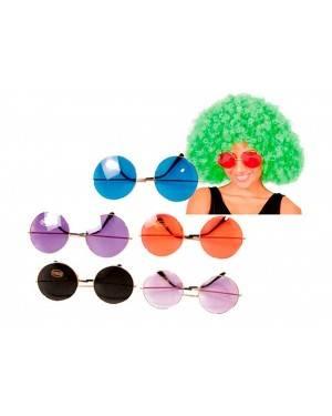 Occhiali Jumbo Hippie (3 Unità) per Carnevale