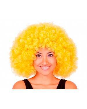 Parrucca Afro Giallo Jumbo per Carnevale