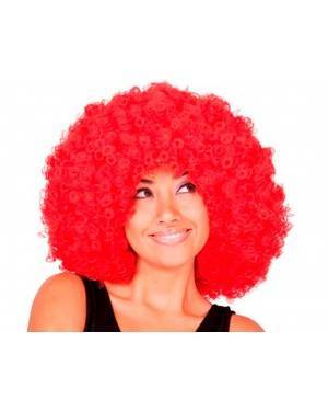 Parrucca Afro Rosso Jumbo per Carnevale