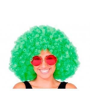 Parrucca Afro Verde Jumbo per Carnevale