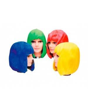 Parrucca Azzurra Liscia di Latice Per Adulti per Carnevale