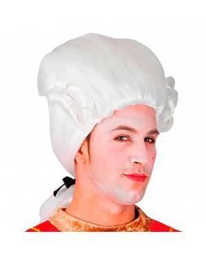 Parrucca Barocco Bianca Per Uomo per Carnevale