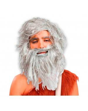 Parrucca Bianca da Cavernicolo Per Adulti per Carnevale