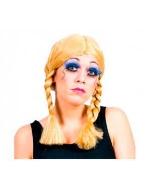 Parrucca Bionda con Trecce per Carnevale