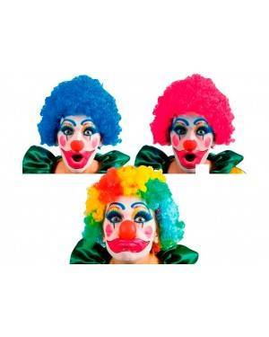 Parrucca Clown-Pagliaccio Multicolor per Carnevale
