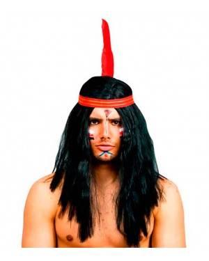 Parrucca Indiano per Carnevale