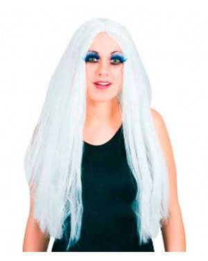 Parrucca Lunga Bianca per Carnevale