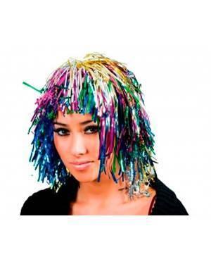 Parrucca Metallizzata Corta Multicolor