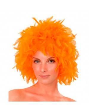 Parrucca Piume Arancione