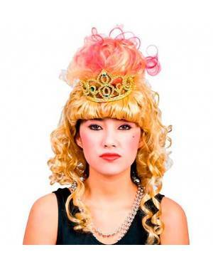 Parrucca Principessa con Corona Per Donna