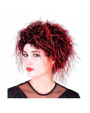 Parrucca Shaz Rossa e Nera Per Donna per Carnevale