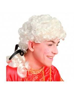Parrucca Uomo Barocco Bianca per Carnevale