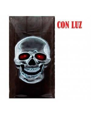 Poster da Teschio con Occhi Luminosi per Carnevale