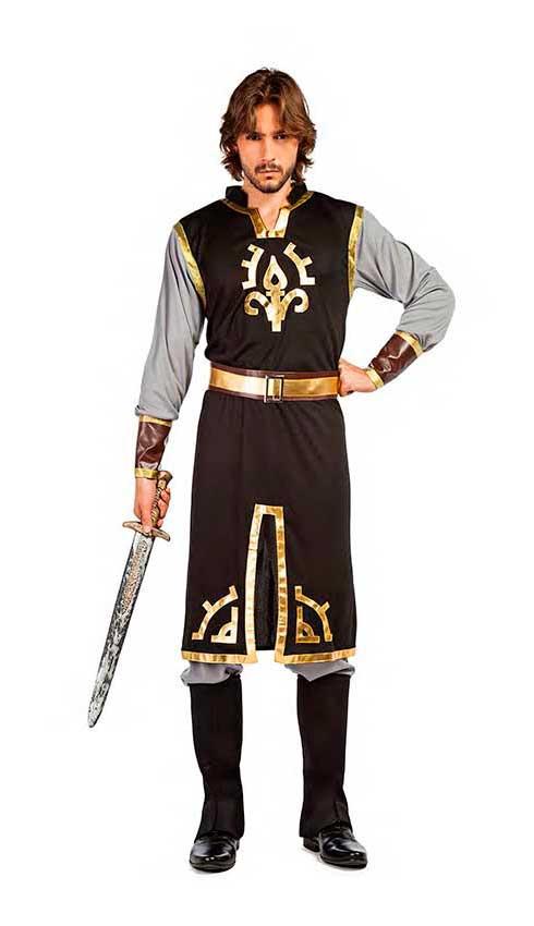 lancoszp Costume da Guerriero Medievale Carnevale Halloween Film Cosplay Accappatoio Tunica di Cavaliere Soldato Set Completo 112cm-152cm